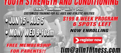 Summer 8 Week Youth Strength and Conditioning Training