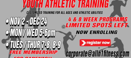 Youth Atheltic Training New Sessions Starting